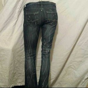 Almost Famous Distressed, Paint-Splattered Skinny